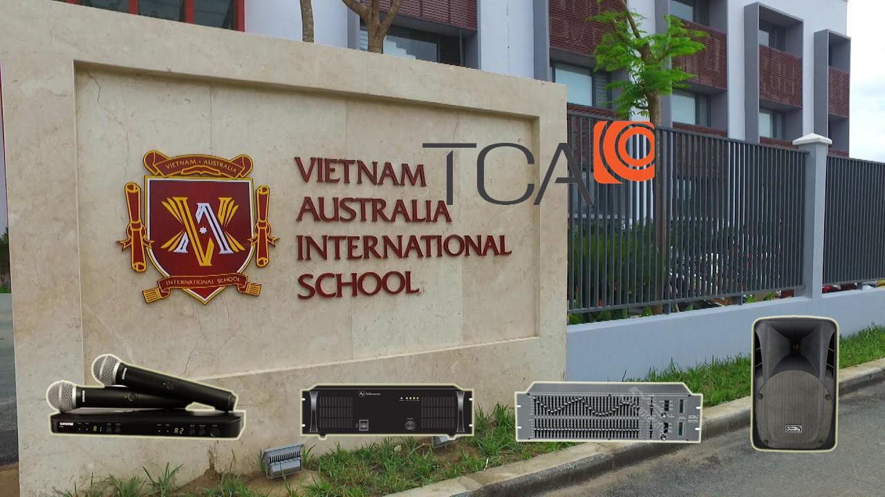 Tư vấn và lắp đặt hệ thống âm thanh hội trường tại trường quốc tế Việt Úc Gò Vấp